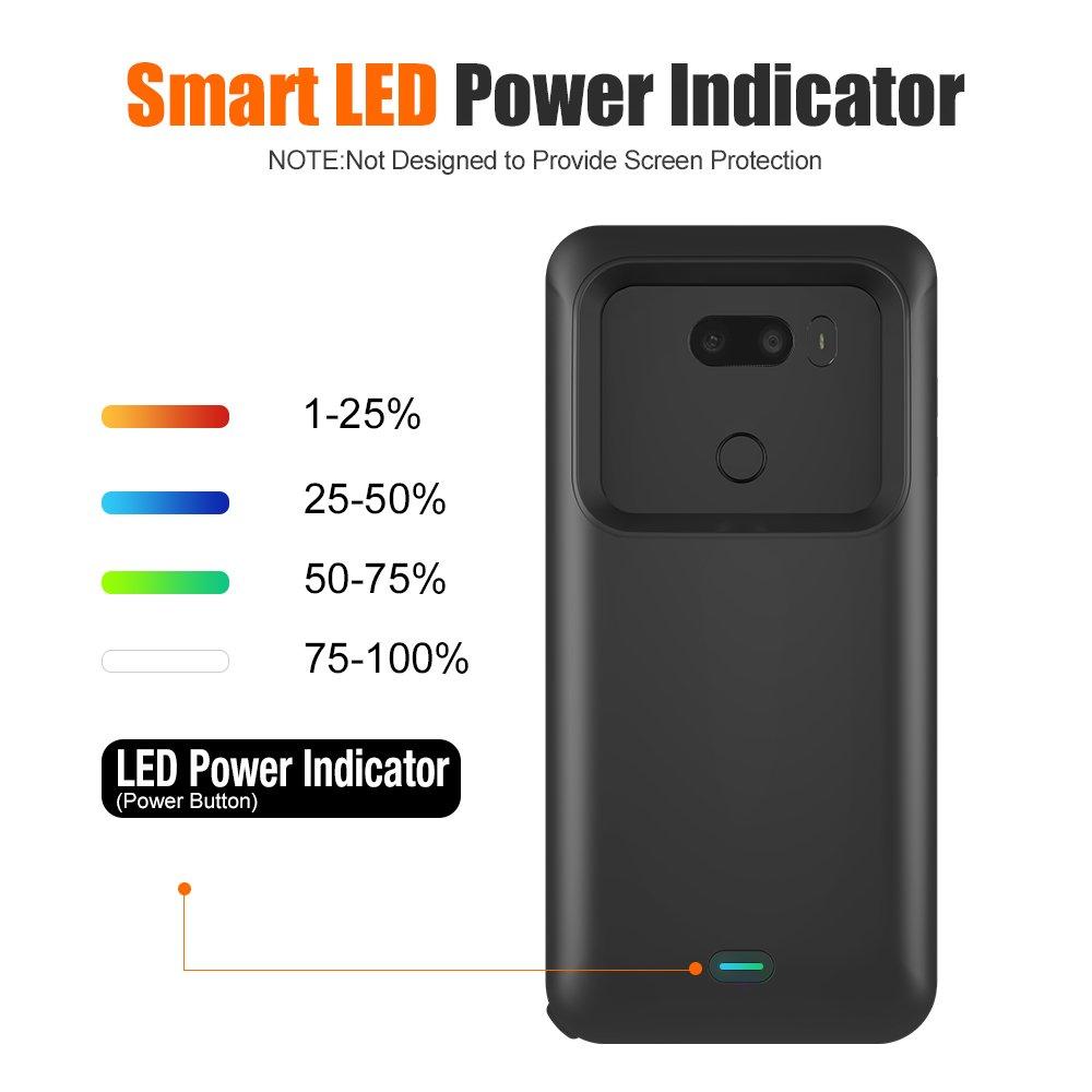 pretty nice f8f06 64aa7 LG V30 Battery Case, BrexLink 4400mAh External Battery Pack