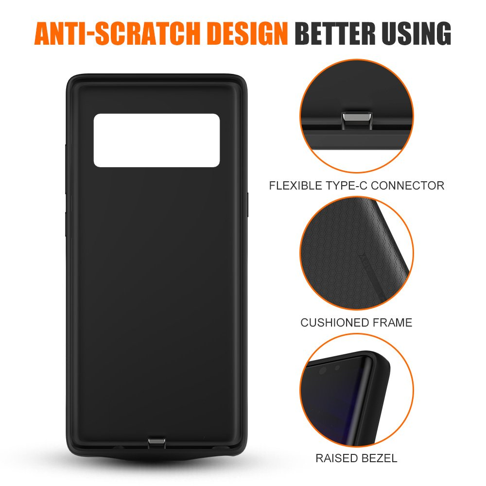 check out 0c51a 09d85 CASESSARY Quick Charger 3.0 4900mAh Galaxy Note 8 Battery Case ...