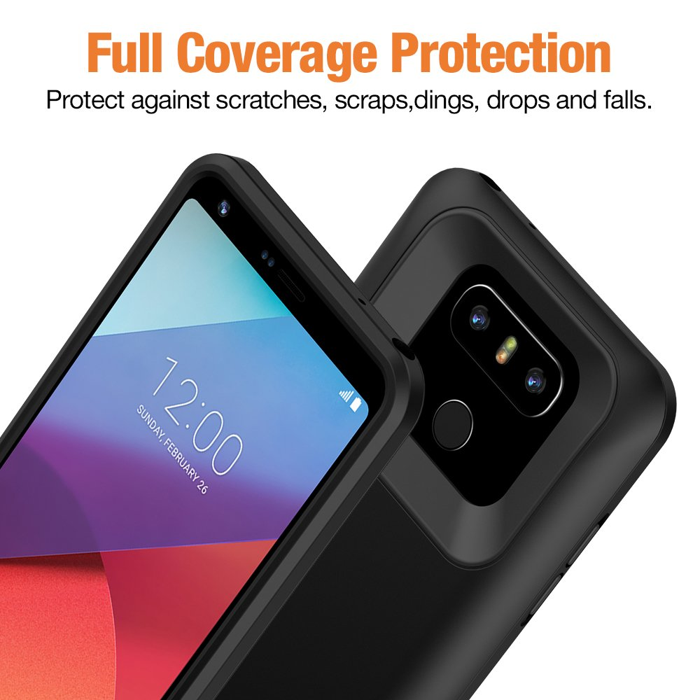 BrexLink 5000mAh LG G6 Rechargeable Portable Battery Case (Black